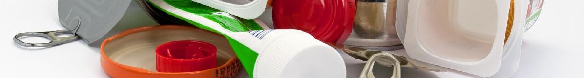Emballages en plastiques, cartons et métaux